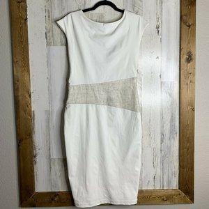 Abi Ferrin NWT size 12 sheath dress ivory white